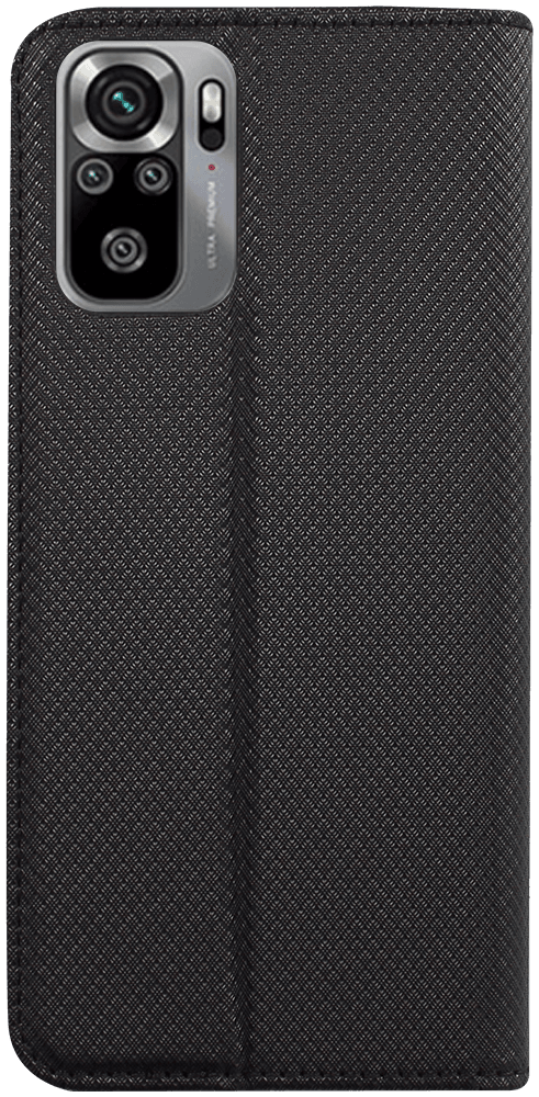 Xiaomi Redmi Note 10s oldalra nyíló flipes bőrtok rombusz mintás fekete
