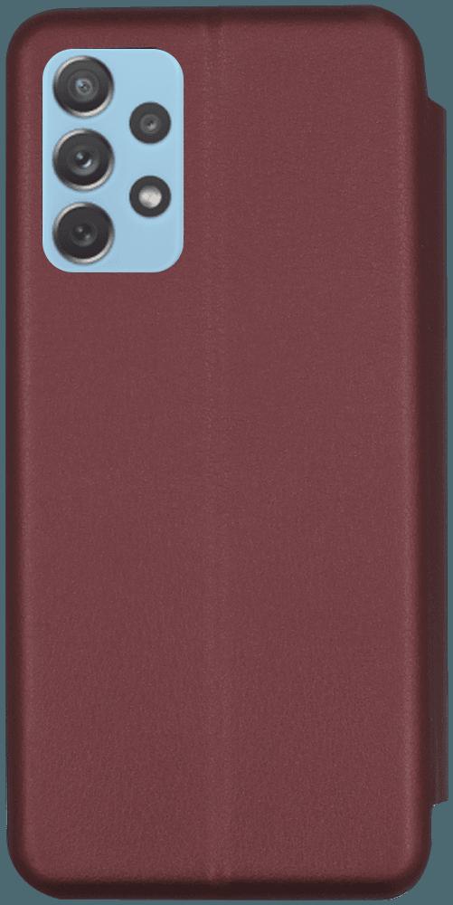 Samsung Galaxy A72 5G (SM-A726B) oldalra nyíló mágneses flipes bőrtok prémium minőség bordó