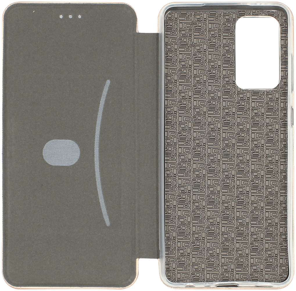 Samsung Galaxy A72 5G (SM-A726B) oldalra nyíló mágneses flipes bőrtok prémium minőség rozéarany