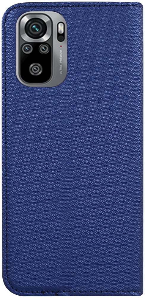 Xiaomi Redmi Note 10s oldalra nyíló flipes bőrtok rombusz mintás sötétkék