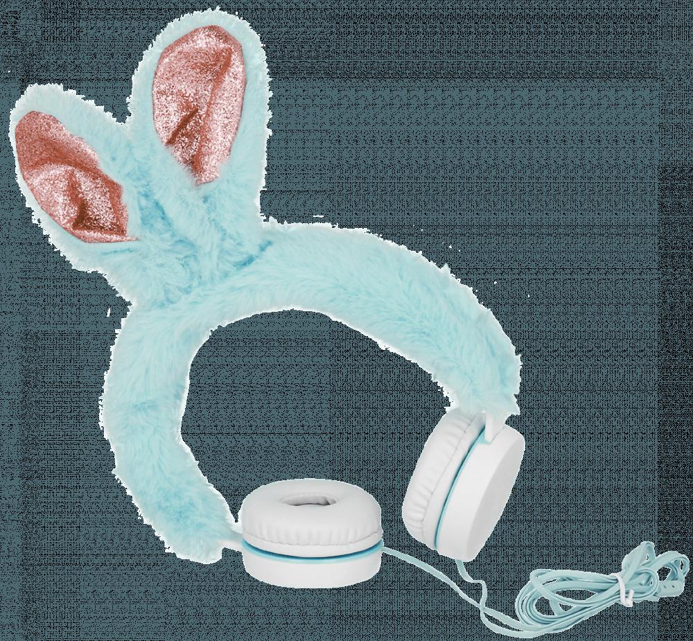 Samsung Galaxy A72 5G (SM-A726B) vezetékes fejhallgató plüss bevonattal, nyuszi fülekkel