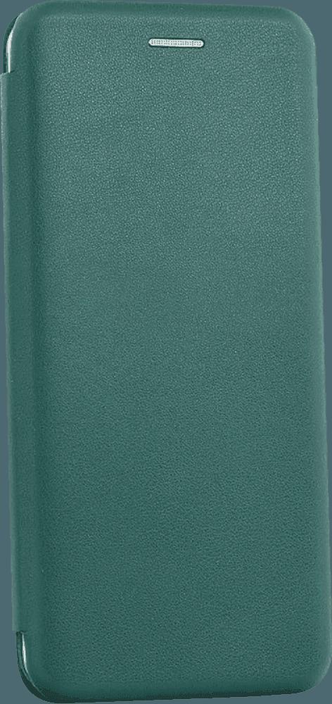 Samsung Galaxy A72 5G (SM-A726B) oldalra nyíló mágneses flipes bőrtok prémium minőség sötétzöld