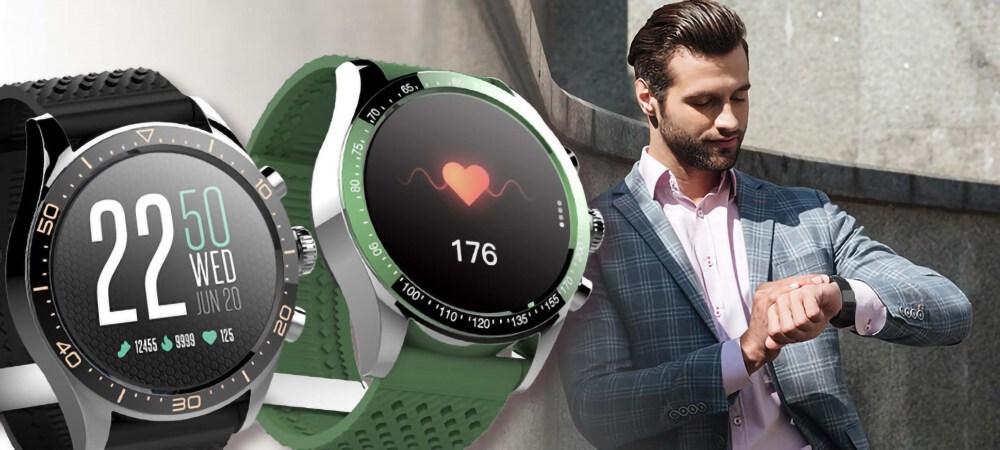 Samsung Galaxy A72 5G (SM-A726B) okosóra FOREVER ICON AW-100 férfi zöld