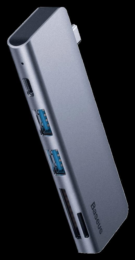 Xiaomi Redmi Note 9T 5 az 1-ben HUB Baseus CAHUB-K0G Harmonica szürke