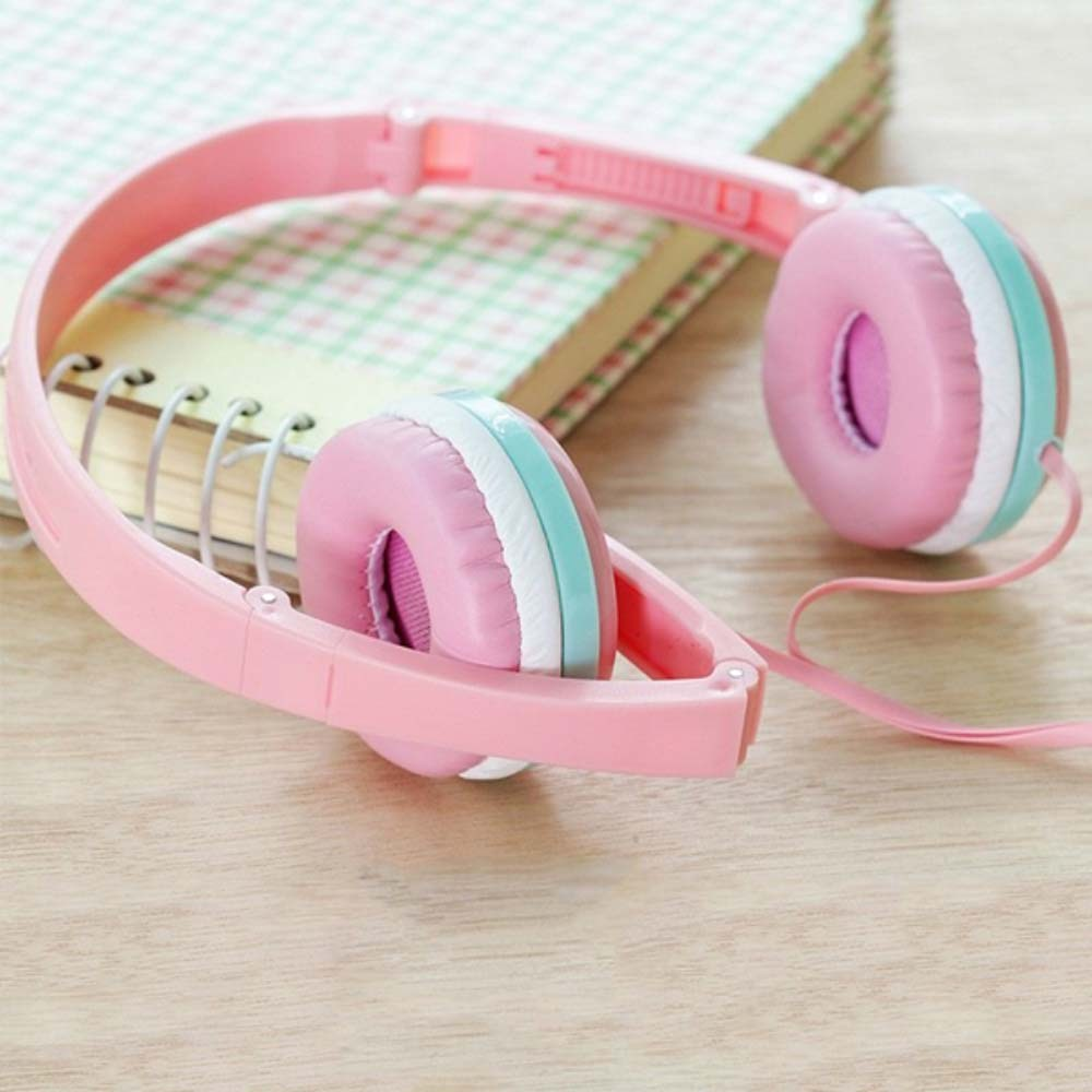 Samsung Galaxy A72 5G (SM-A726B) vezetékes fejhallgató gyerekek számára GJBY Audio Extra Bass (GJ-04) rózsaszín