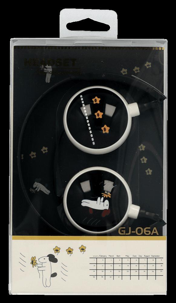 Samsung Galaxy A72 5G (SM-A726B) vezetékes fejhallgató gyerekek számára GJBY Audio Extra Bass (GJ-06A) fekete