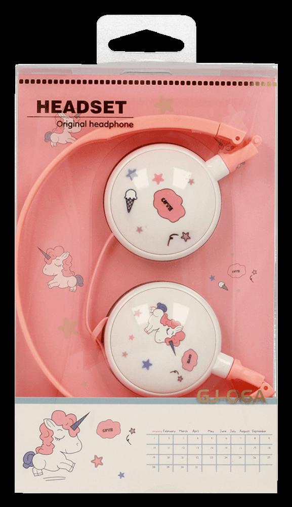 Xiaomi Redmi Note 9T vezetékes fejhallgató gyerekek számára GJBY Audio Extra Bass (GJ-06A) rózsaszín