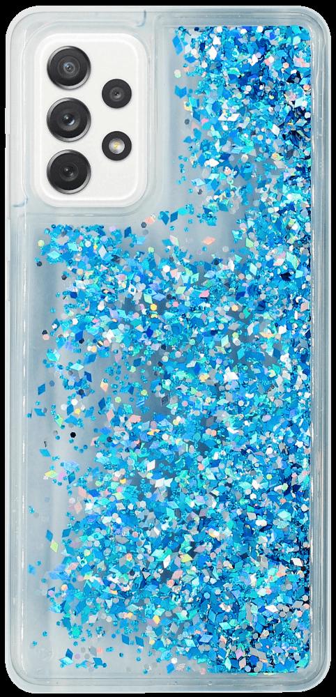 Samsung Galaxy A72 5G (SM-A726B) szilikon tok gyári Liquid Sparkle kék/ezüst