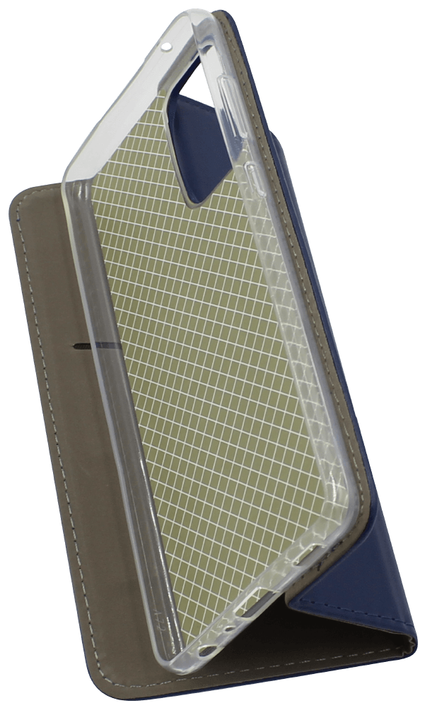 Samsung Galaxy A72 5G (SM-A726B) oldalra nyíló flipes bőrtok asztali tartó funkciós sötétkék