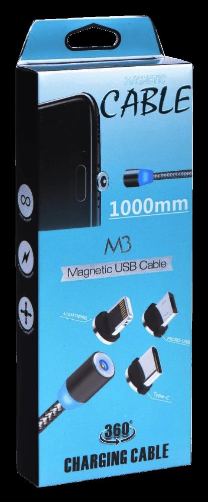 Xiaomi Redmi Note 9T mágneses USB kábel három cserélhető adapterrel fekete