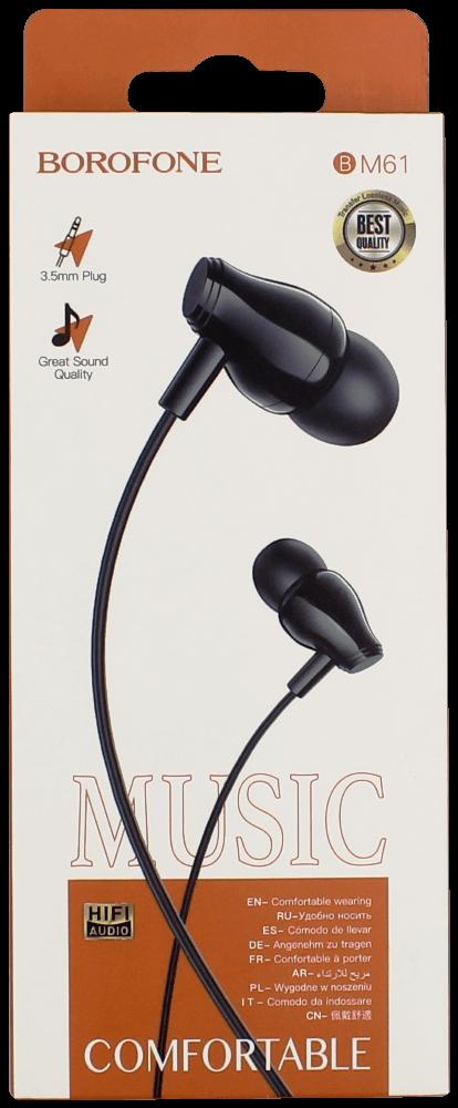 Samsung Galaxy A72 5G (SM-A726B) Borofone M61 fülhallgató - headset nagy teljesítményű, univerzális fekete