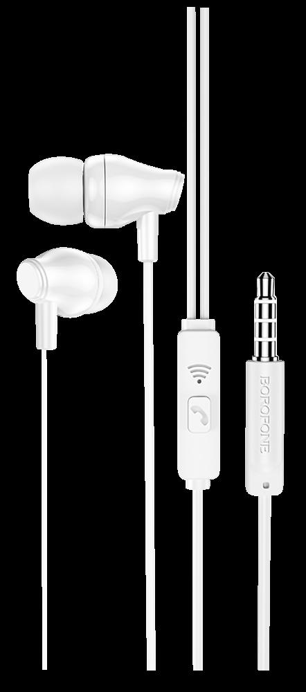 Xiaomi Redmi Note 10s Borofone M61 fülhallgató - headset nagy teljesítményű, univerzális fehér